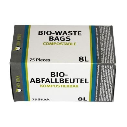 Bio4Pack Abfallbeutel 100% kompostierbar, 8 Liter