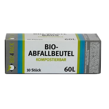 Bio4Pack Abfallbeutel 100% kompostierbar, 60 Liter