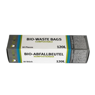 Bio4Pack Abfallbeutel 100% kompostierbar, 120 l 10 Stück pro Faltschachtel (Rolle)