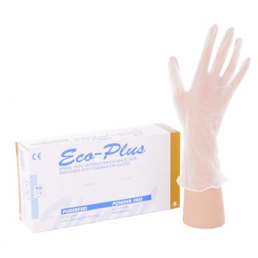 """Eco-Plus Einmalhandschuhe, ungepudert Größe """"S"""" (6-7) - Packung = 100 Stück"""