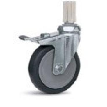 Lenkrolle Metall mit Feststellbremse 100 mm