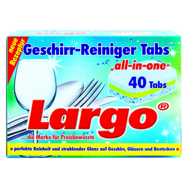 "Largo Geschirr-Reiniger Tabs ""all-in-one"" 1 Packung = 40 Tabs à 20 g"