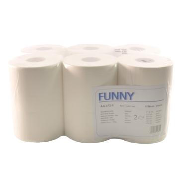 Rollenhandtuchpapier, 2-lagig, hochweiß