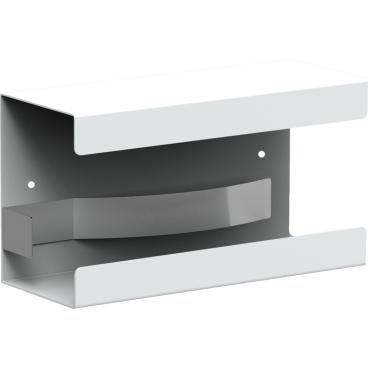 Halter für Standardkarton mit Einmalhandschuhen Aluminium, weiß beschichtet