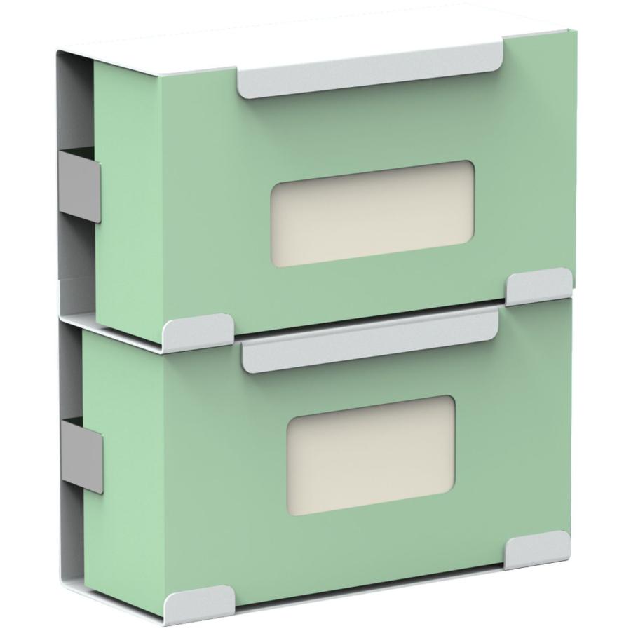 halter f r 2 standkartons mit einmalhandschuhen aluminium wei beschichtet online kaufen. Black Bedroom Furniture Sets. Home Design Ideas