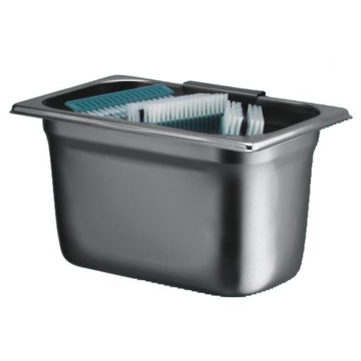 Auffangbehälter für benutzte Handwaschbürsten