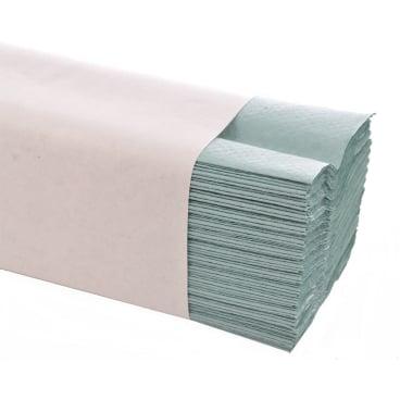 Papierhandtücher 25 x 33 cm, 1-lagig 1 Karton = 3.648 Blatt, grün