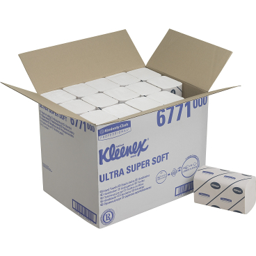 KLEENEX® Ultra Super Soft Handtücher - medium 1 Karton = 30 x 96 = 2.880 Tücher, 21,5 x 31,5
