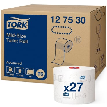 Tork Midi Toilettenpapier T6  Advanced, 2-lagig, weiß