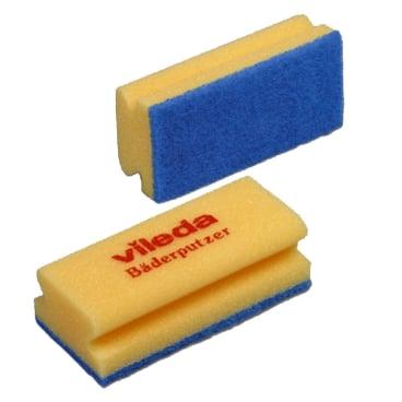 Vileda Bäderputzer Soft Reinigungsschwamm 1 Packung = 10 Stück, 7 x 15 cm, Größe 1