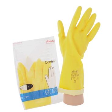 Vileda-Handschuhe Naturlatex + Innenbeflockung Größe: S (7)