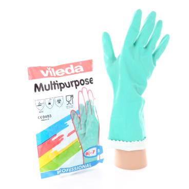 Vileda-Handschuhe - Naturlatex mit Innenbeflockung Größe: XL (10)
