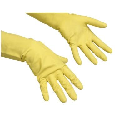 Vileda-Handschuhe Naturlatex + Innenbeflockung Größe: M (8)