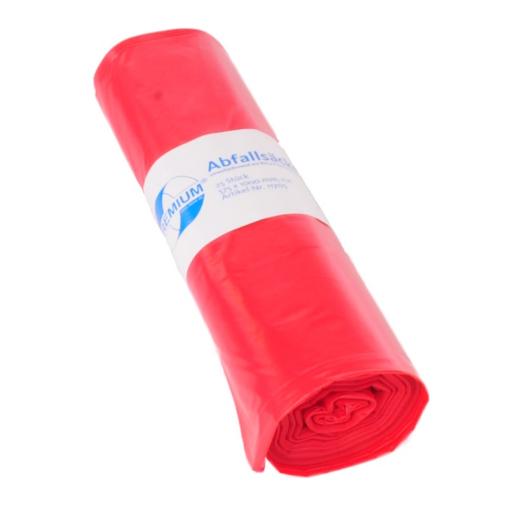 DEISS PREMIUM Abfallsack 70 Liter, rot, Typ 60