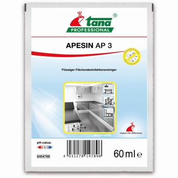 TANA APESIN AP 3 Desinfektionsreiniger 1 Karton = 100 x 60 ml - Dosierbeutel
