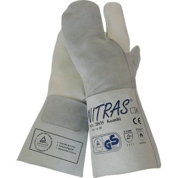 NITRAS 3-Finger Schweißerhandschuhe