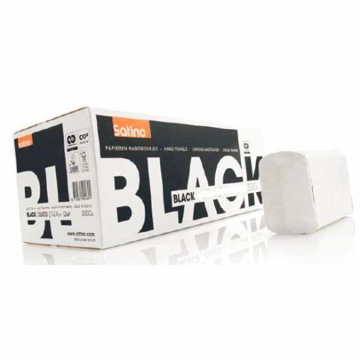 SATINO Black Handtuchpapier, 20 x 23 cm