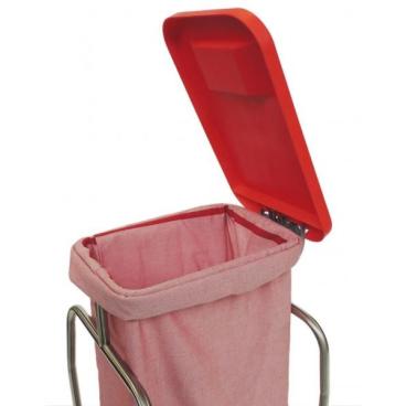 Kunststoffdeckel für Wäschesammler & Stationswagen rot