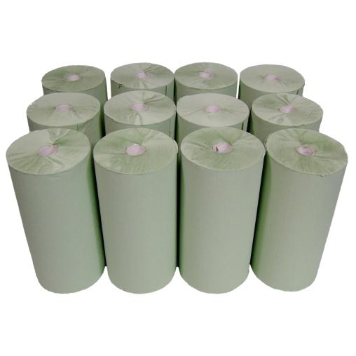Rollenhandtuchpapier, 1-lagig, grün