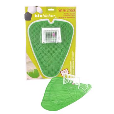 Klokicker - Fußball Urinalsieb als Pissoir-Einsatz 1 Packung = 2 Klokicker für 2 Urinalbecken