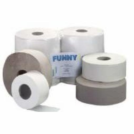 Jumbo-Toilettenpapier, Krepp, 1-lagig, hellgrau
