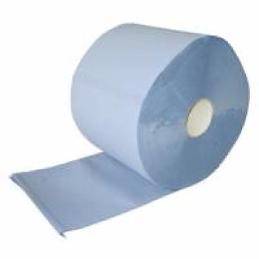 Papierputztuch auf Rolle, 36x38 cm, 3-lagig, blau ½ Palette = 18 Pakete