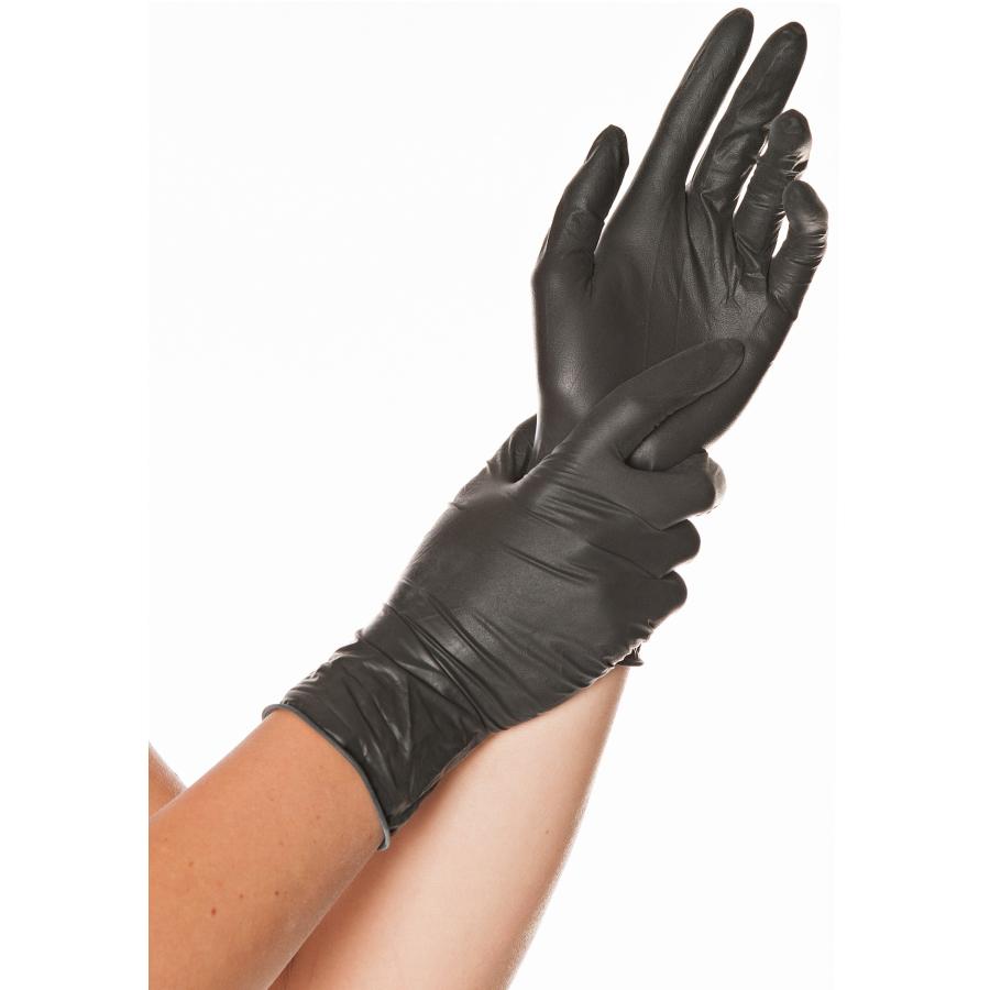 Größe L Latex Handschuhe schwarz, 100 St.