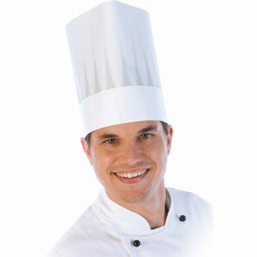 HYGOSTAR® Europa Extraklasse Kochmütze, mit Faltenschattierung