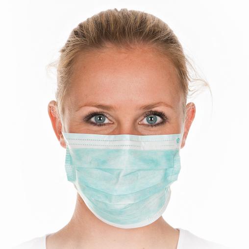 HYGOSTAR® Mundschutz mit Gummiband über Kopf