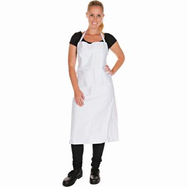 HYGOSTAR® Latzschürze aus Baumwolle, weiß