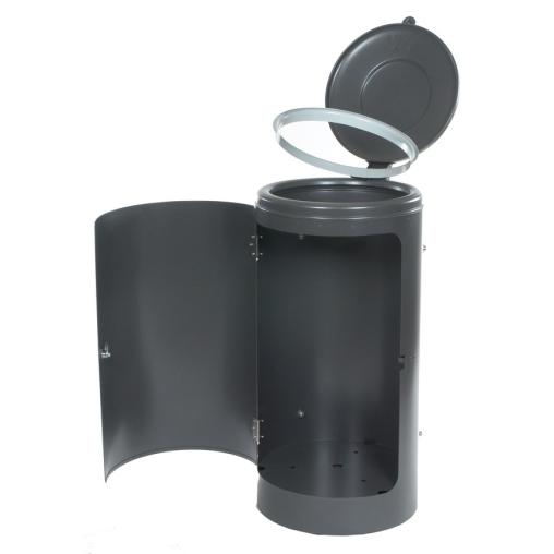 Rastplatz-Abfallsammler, 120 l, abschließbar