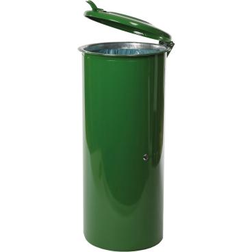 Abfallsammler aus Stahlblech, 120 l, abschließbar