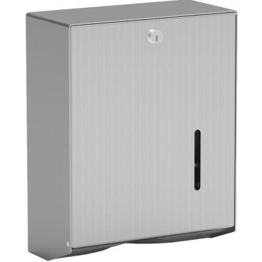 Handtuchpapierspender, verschließbar Aluminium, mattsilber eloxiert