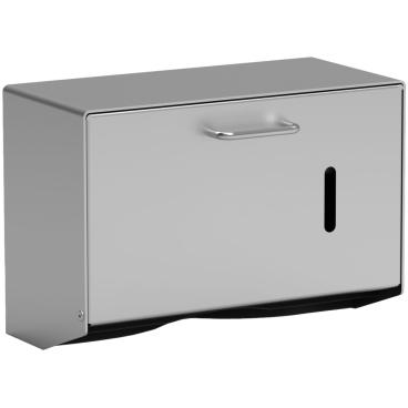 Handtuchpapierspender mit Schnappschloss Aluminium, mattsilber eloxiert