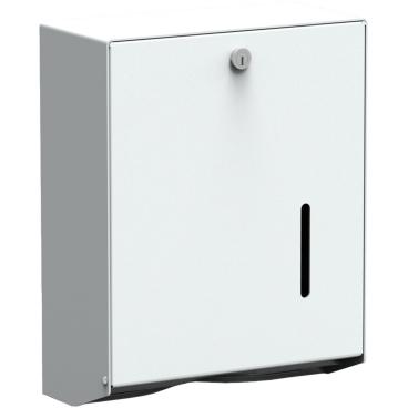 Handtuchpapierspender, verschließbar Aluminium, weiß beschichtet