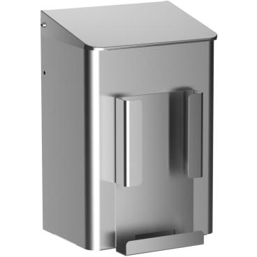 Abfallbehälter mit Klappdeckel, 6 Liter Edelstahl, geschliffen
