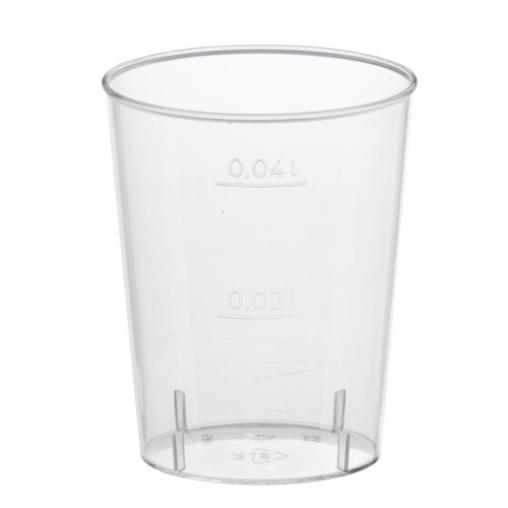 Papstar Gläser für Schnaps 4 cl, PS, glasklar