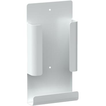 Hygienebeutelhalter für die Damenhygiene Aluminium, weiß beschichtet