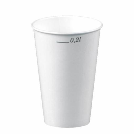 Papstar Trinkbecher 0,2 Liter, Pappe, weiß