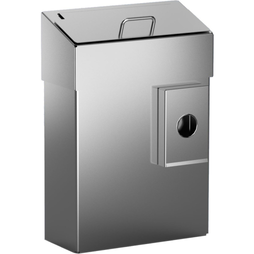 Abfallbehälter mit Schleusenklappe für die