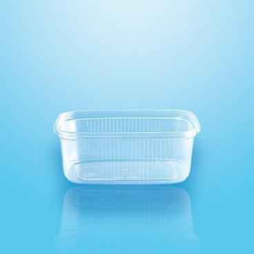 Verpackungsbecher mit Deckel PP eckig 200 ml