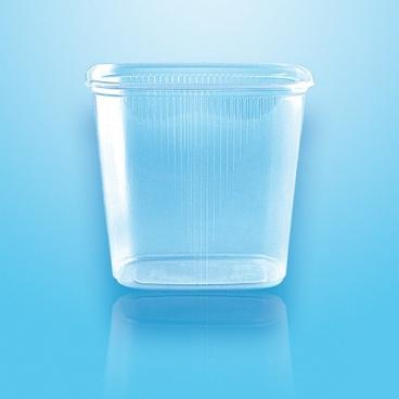 Verpackungsbecher mit Deckel PP eckig 500 ml