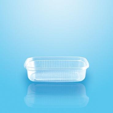 Verpackungsbecher mit Deckel PP eckig 125 ml