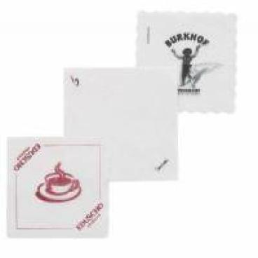 Werbe-Piccoloservietten 15 x 15 cm, 1-lagig 24 Karton = 268.800 Stück
