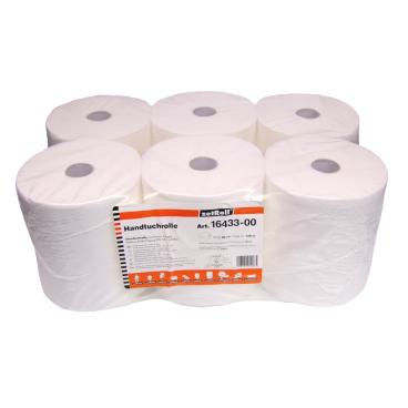 zetRoll® Rollenhandtuchpapier, 2-lagig, weiß 1 Paket = 6 Rollen á 150 Meter