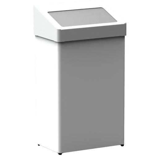 Abfallbehälter m. selbstschließender Einwurfklappe