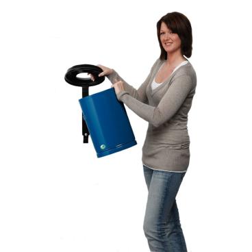 VAR Papierkorb 24 Liter mit Wandhalterung/Schloss