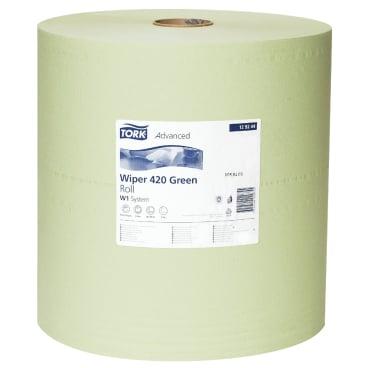 Tork Advanced Wischtuch 420, 2-lagig, grün 1 Paket = 1 Rolle x 510 m = 1500 Tücher