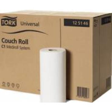 Tork Universal Liegenabdeckung, Tissue, 1-lagig 1 Karton = 8 Rollen x 50 m = 1.056 Abschnitte