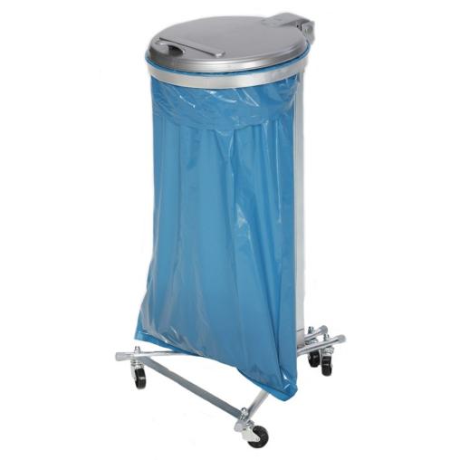 VAR Abfallsammler mit vier Laufrollen